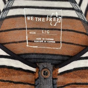 Free People Tops - We The Free Striped Metallic Henley